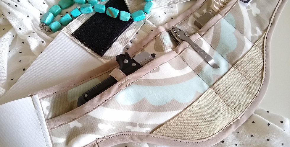 Concealed Carry Waist Holster - Tan Suzani