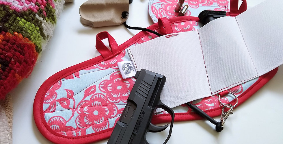 Concealed Carry Thigh Holster - Cherry Blossom