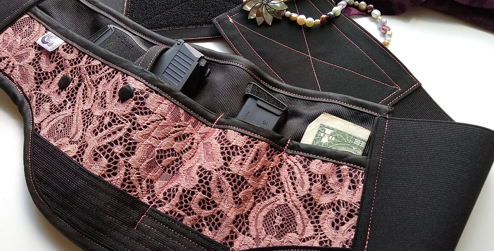 Women's Concealed Carry Waist Holster - Antique Rose