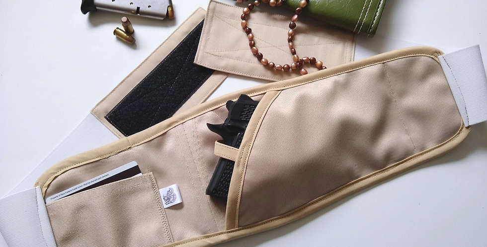 Bosom Buddy Concealed Carry Holster - Solid Tan