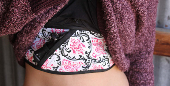 Bosom Buddy Concealed Carry Holster - Pink and Black Madison