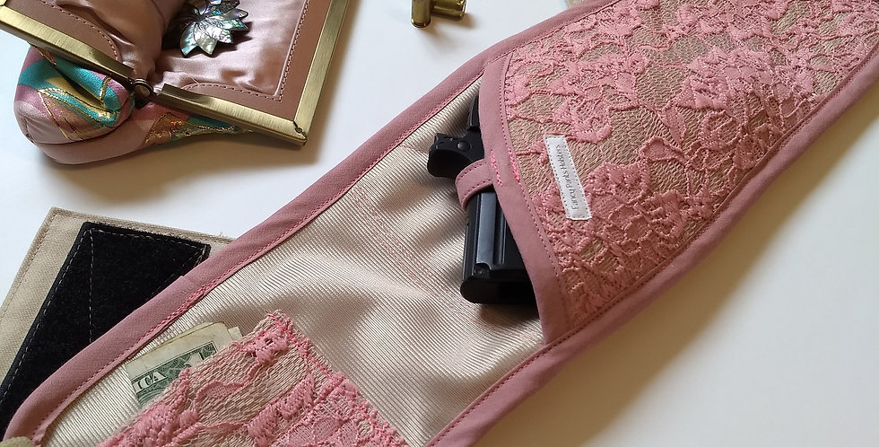 Bosom Buddy Concealed Carry Holster - Mauve Lace
