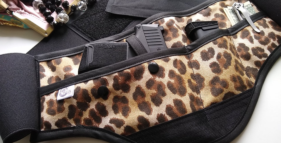 Concealed Carry Waist Holster - Leopard