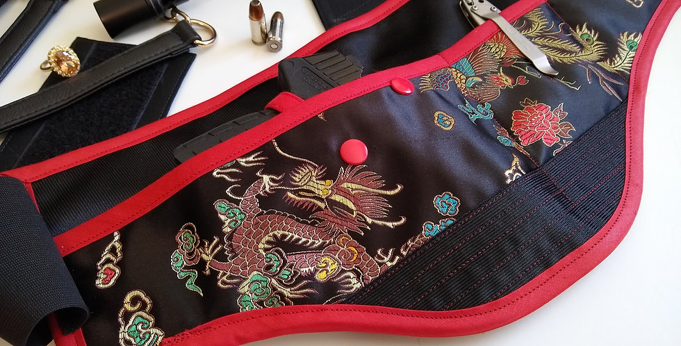 Women's Concealed Carry Waist Holster -Chinese Dragon
