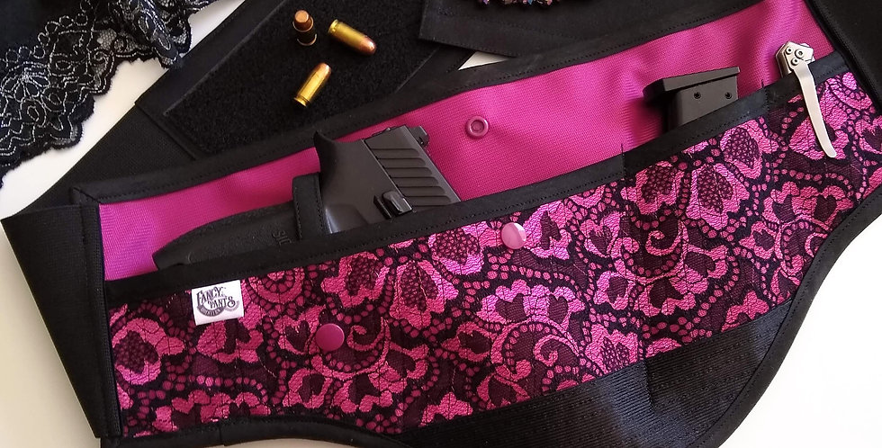 Concealed Carry Waist Holster - Metallic Magenta