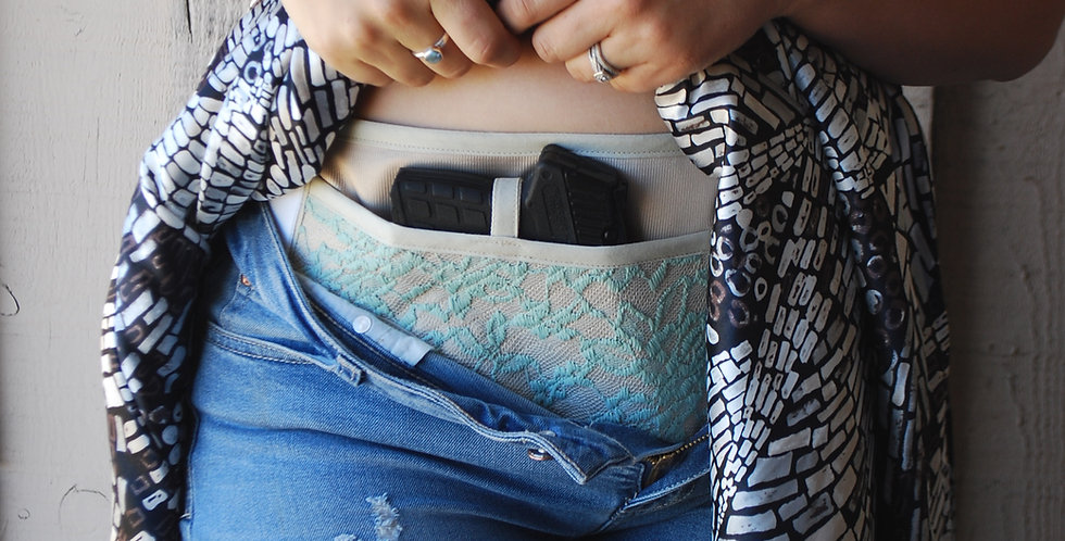 Concealed Carry Waist Holster - Sage Lace