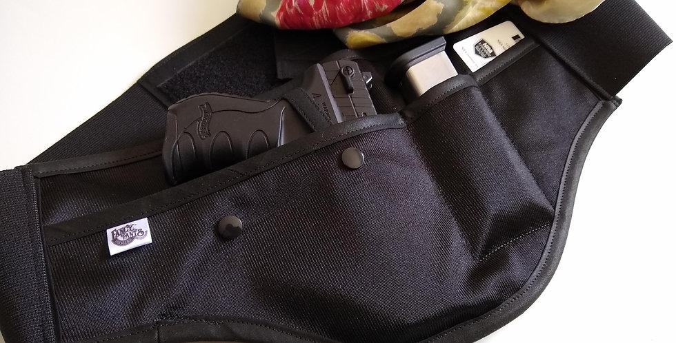 Concealed Carry Waist Holster - Solid Black