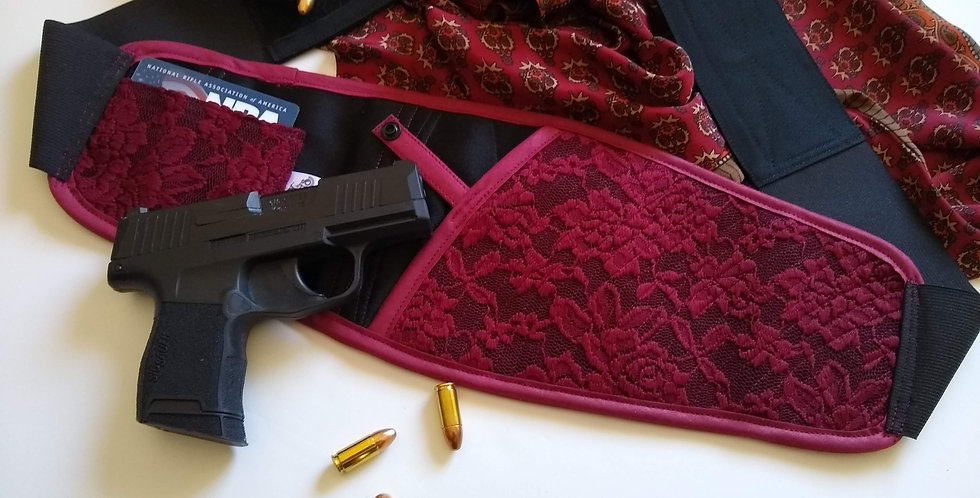 Bosom Buddy Concealed Carry Holster - Burgundy Lace