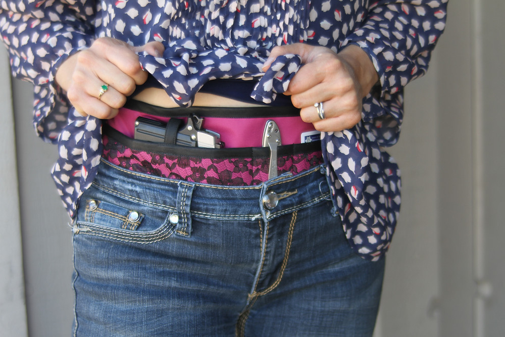 concealed carry holster for women, every day carry, ccw holster, EDC, women's holster, comfortable holster, Fancy Pants Holsters