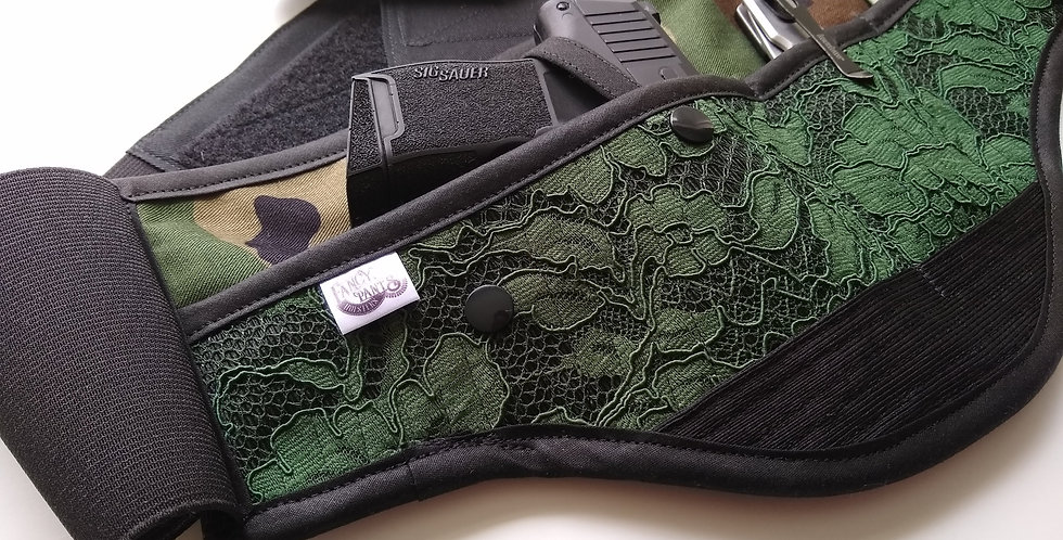 Women's Concealed Carry Waist Holster - Camo lace