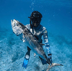 Team diver _marco__troutman with a perso