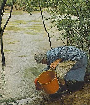 Eva Granny Henderson on Buffalo River in  Arkansas