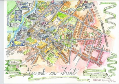 Newark on Trent Map