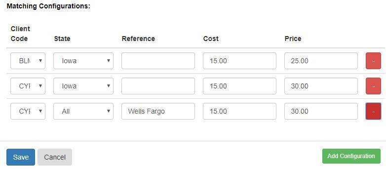 Pruvan - adding configuration to invoice items