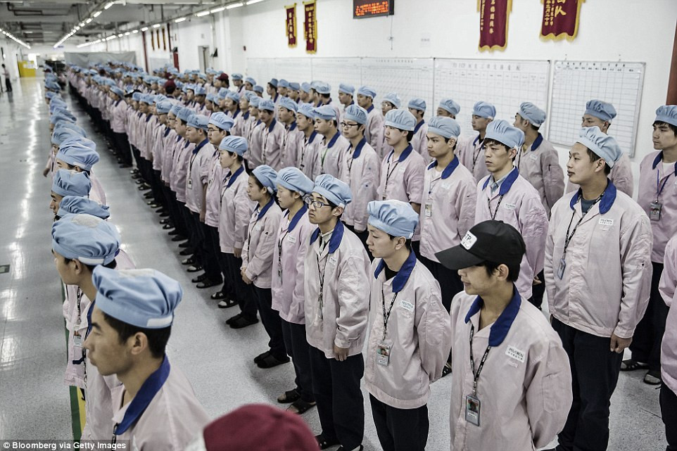 Apple's Factory in China.