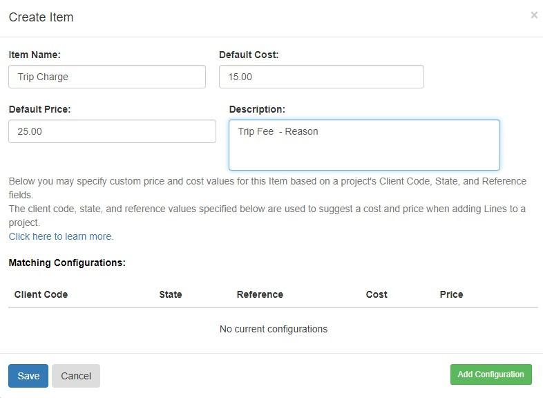 Pruvan - Creating Invoice Item Masterlist