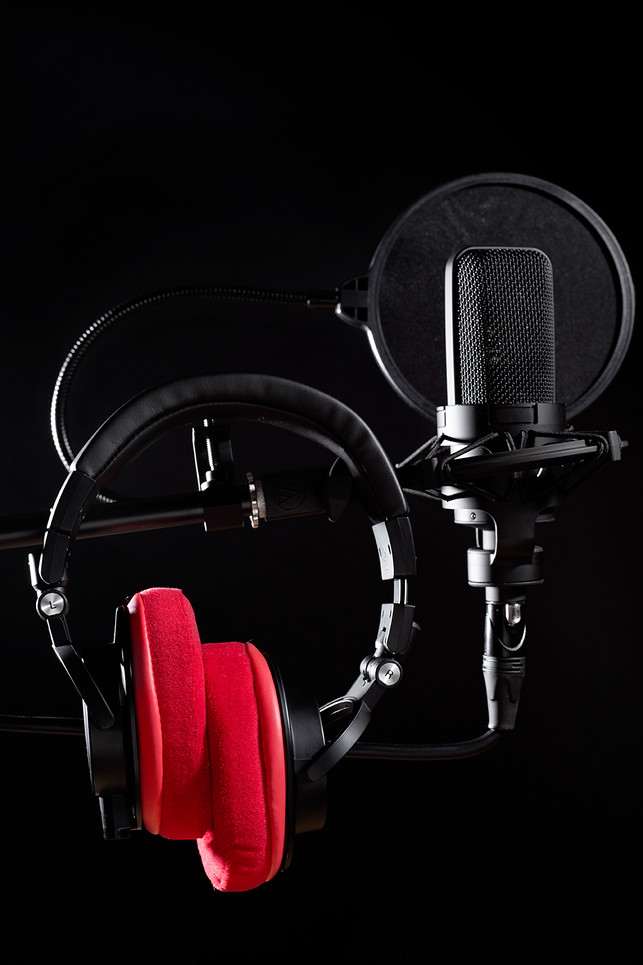 microphone and headphones