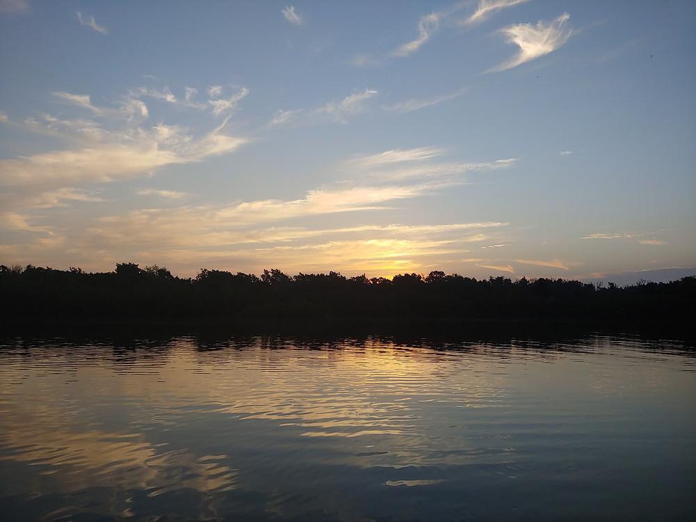 Sunrise over Mosquito Lagoon Estuary|Captain John Tarr