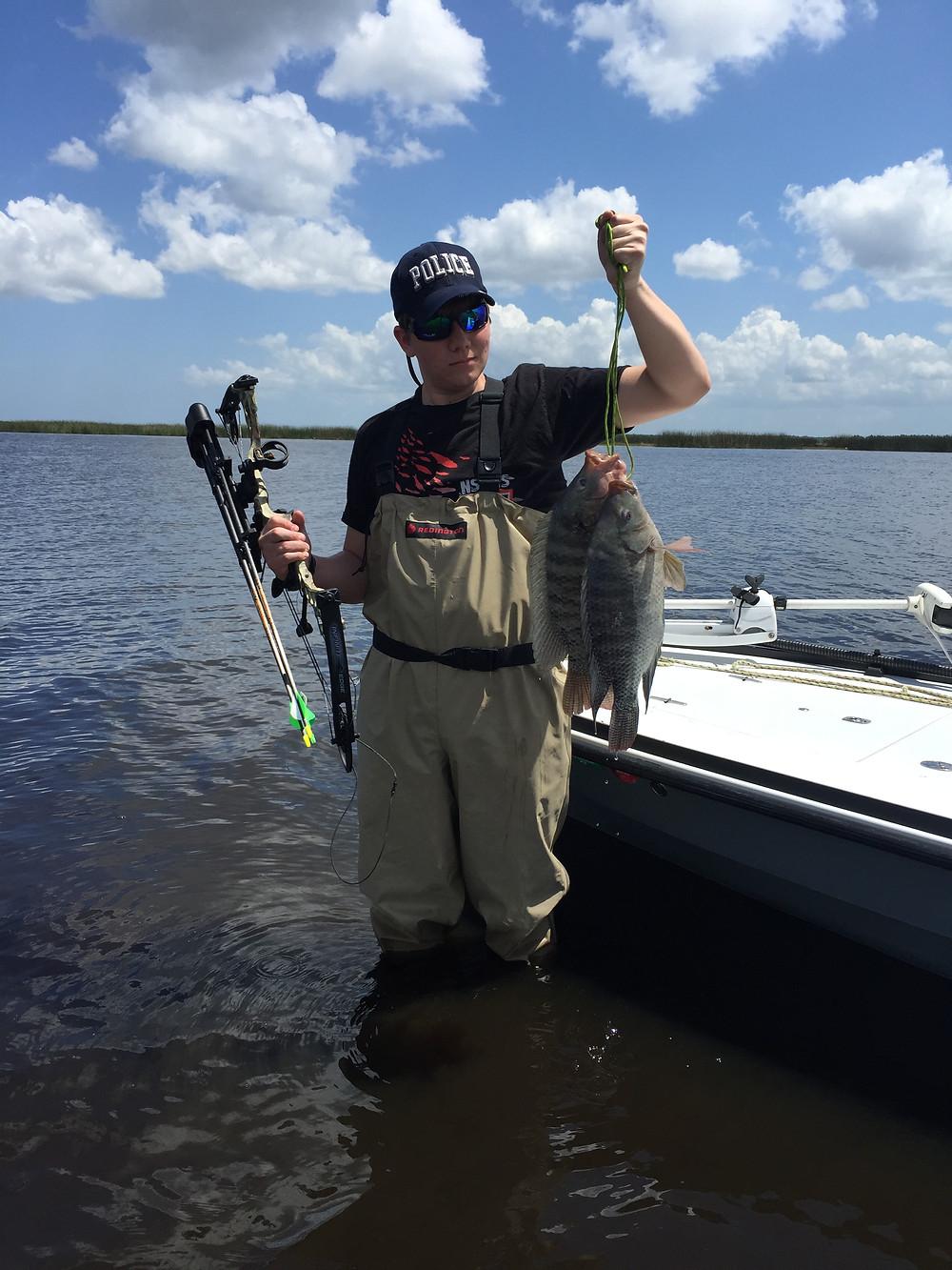 Captain John Tarr Fishing Charters|Tailhunter Outdoor Adventures|Florida|Bowfishing|Tilapia