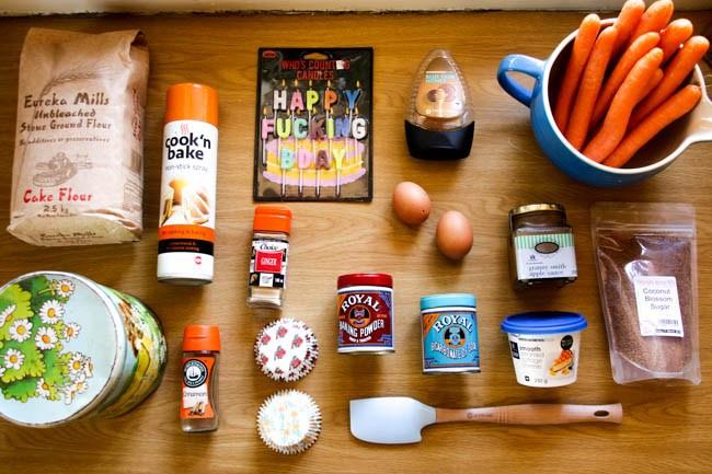Carrot Cupcake Ingredients