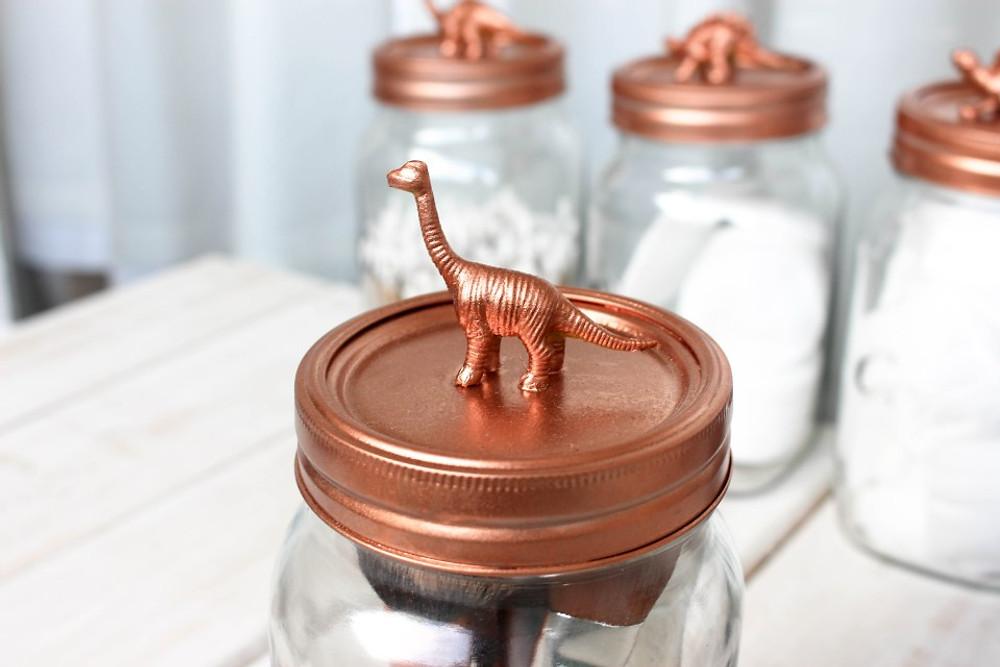 Lucy Sarah and Dinosaur DIY Storage Jars