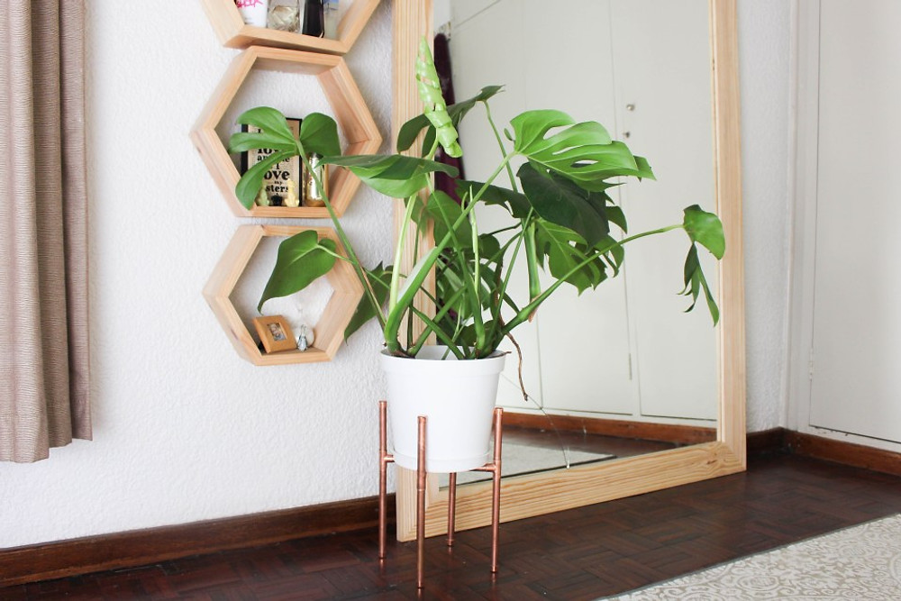 DIY Copper Plant Stand Lucy Sarah