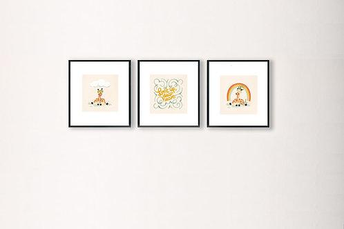 RD x Illustration Huiz | Animal Custom Prints | 20 x 20 | Set of Three
