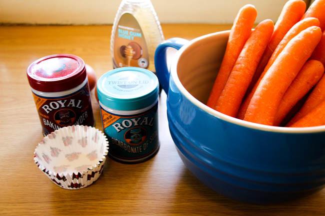 Carrot Cupcakes Ingredients