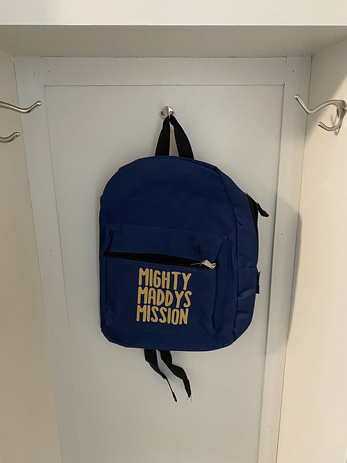 Childs Backpack - Navy Blue with Gold Writing