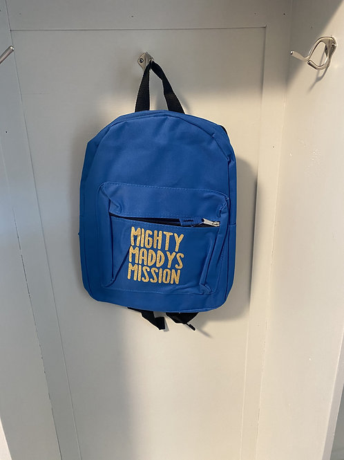 Childs Backpack - Royal Blue with Gold Writing