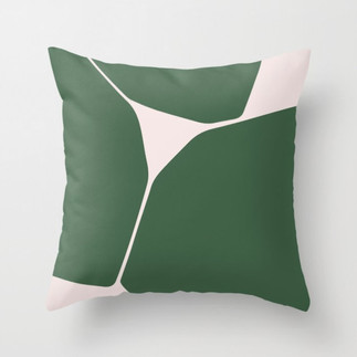 Betsy Throw Pillow in Green