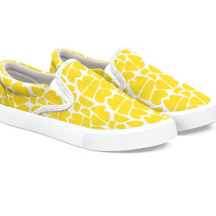 Happy Canvas Shoes in Yellow by Petra Kaksonen