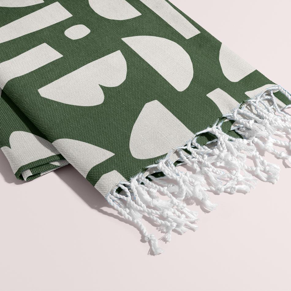 Petra Kaksonen Green Palapeli Cutout Blanket