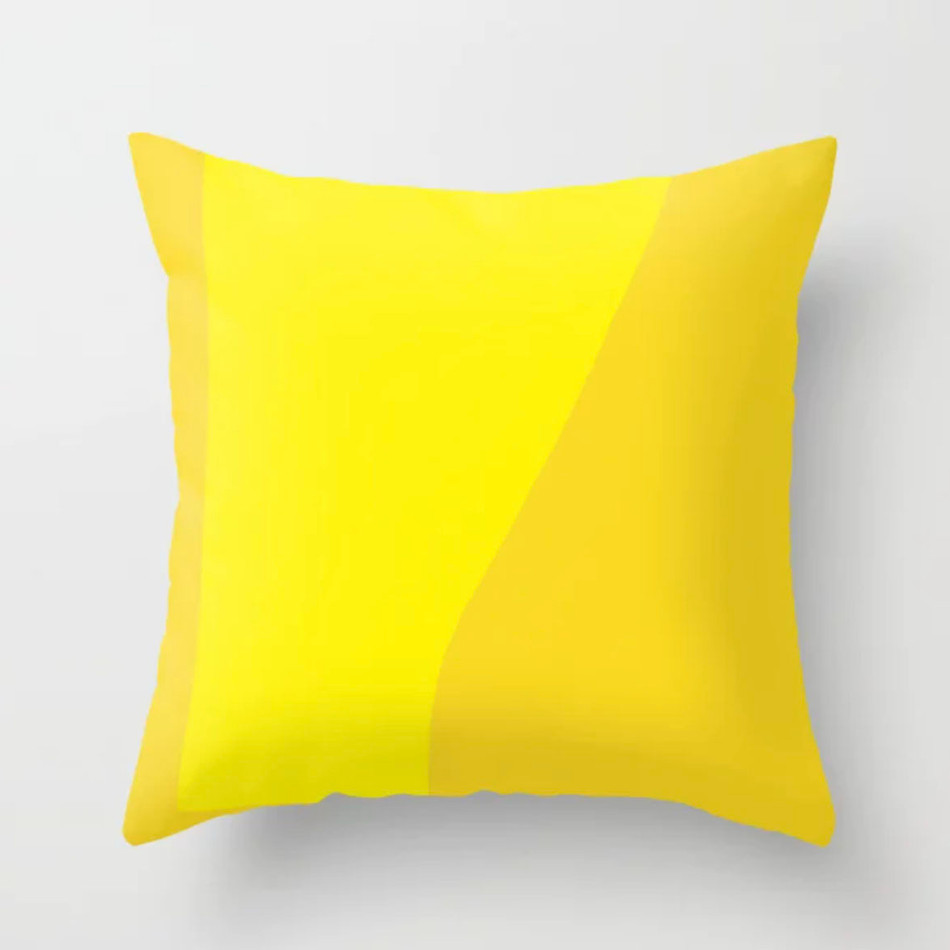 Petra Kaksonen Yellow Throw Pillow