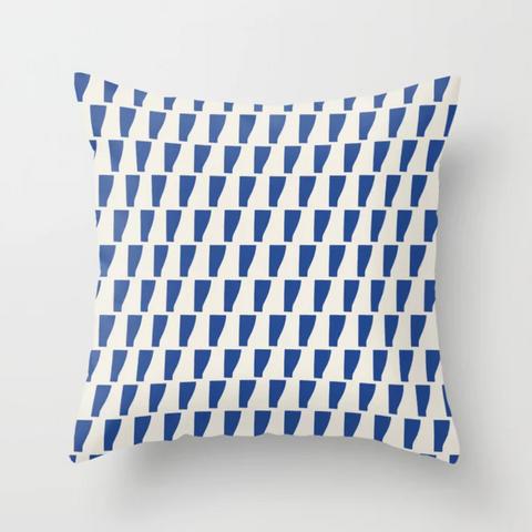 Petra Kaksonen Blue Patterned Pillow