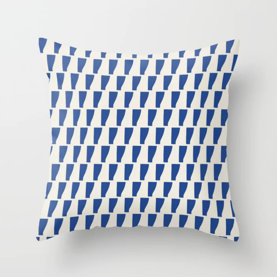 Petra Kaksonen Blue Patterned Pillow