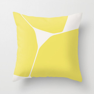 Betsy Throw Pillow in Yellow