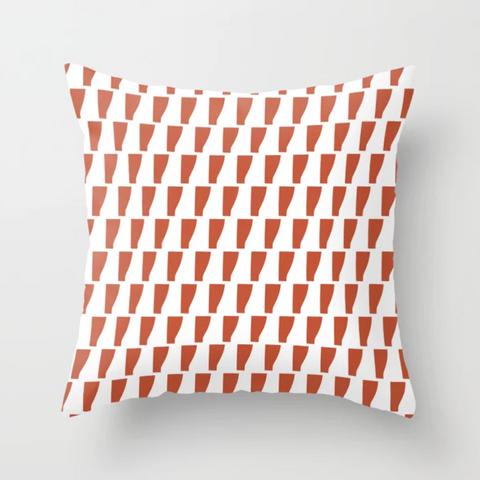 Petra Kaksonen Red Patterned Pillow