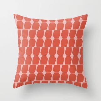 Tapio Throw Pillow Orange Pink Small
