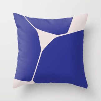 Betsy Throw Pillow in Blue