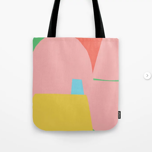 Minimalist, colourful tote bag by Petra Kaksonen