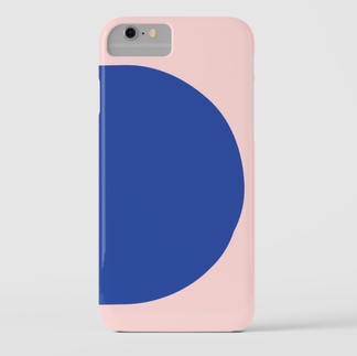 Betty iPhone Cover Blue & Pink