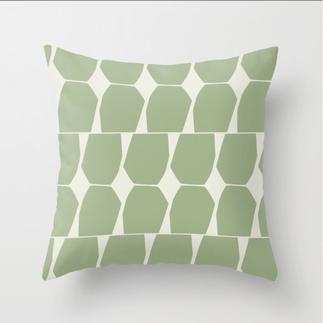 Tapio Throw Pillow Green Sage