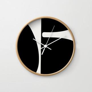 Betty Wall Clock Black