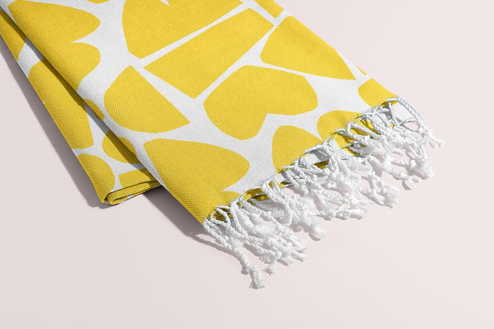 Petra Kaksonen Yellow Palaset Towel