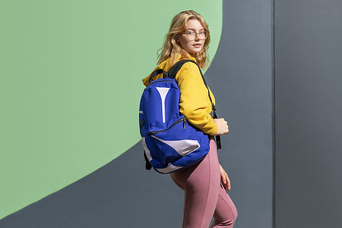 Petra Kaksonen Blue Simple Modern Backpack