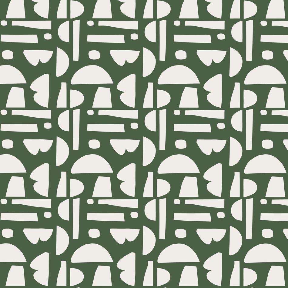 Petra Kaksonen Green Palapeli Cutout Pattern