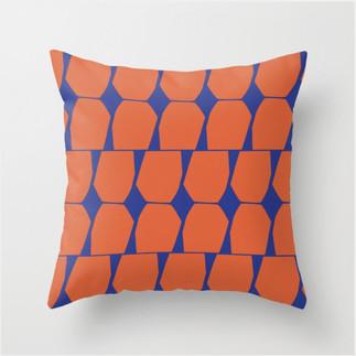 Tapio Throw Pillow Blue Orange
