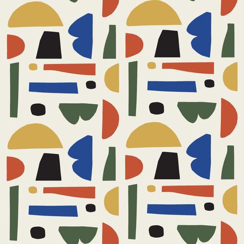 Petra Kaksonen Colourful Cutout Pattern