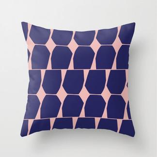 Tapio Throw Pillow Blue Pink